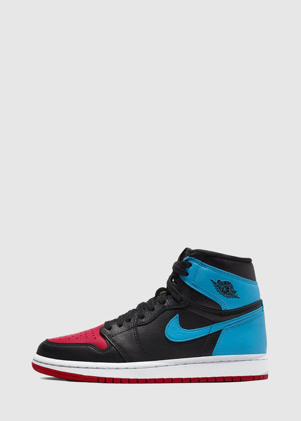 JORDAN: WOMEN'S AIR JORDAN 1 'NC TO CHI' [RED/BLUE]