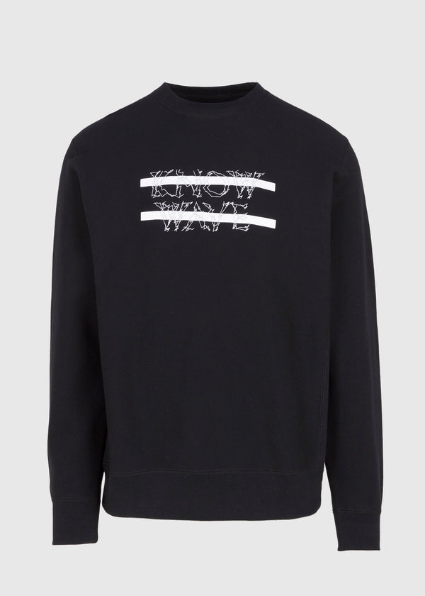 KNOW WAVE: ANXIETY LOGO CREWNECK [BLACK]