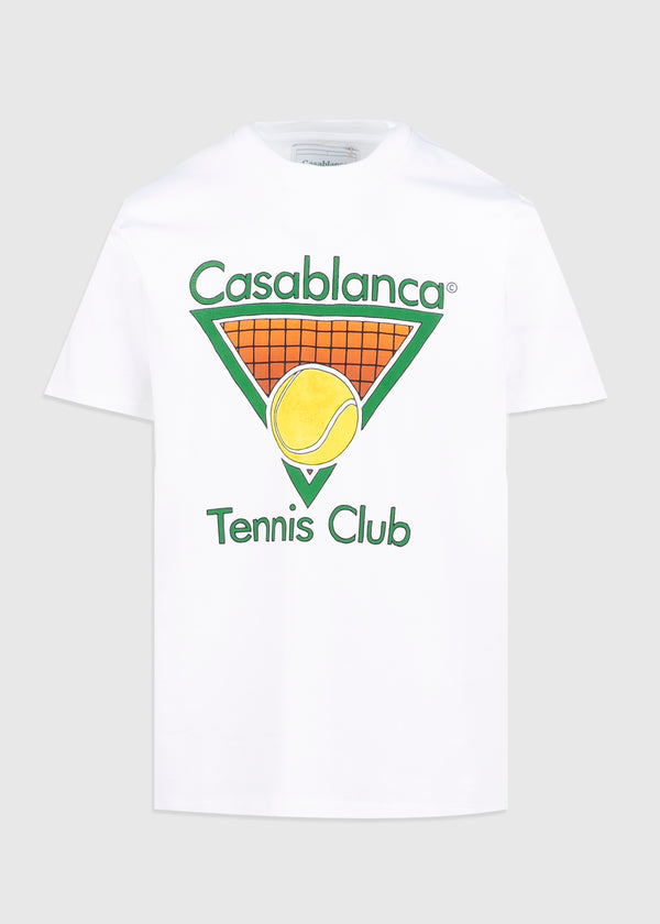 CASABLANCA: TENNIS CLUB TEE [WHITE]