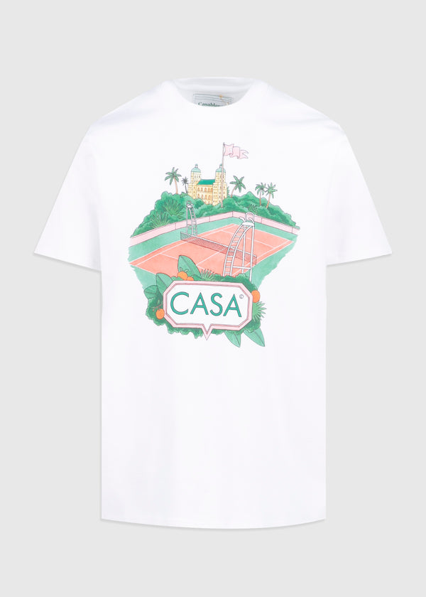 CASABLANCA: COURT TEE [WHITE]