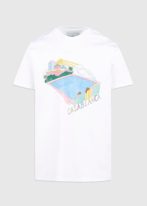 CASABLANCA: POOL TEE [WHITE]