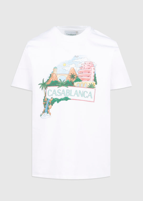 CASABLANCA: VIEWS TEE [WHITE]