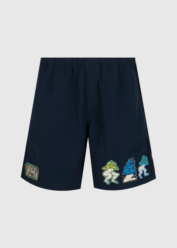 BRAIN DEAD: BEACH SHORTS [BLUE]