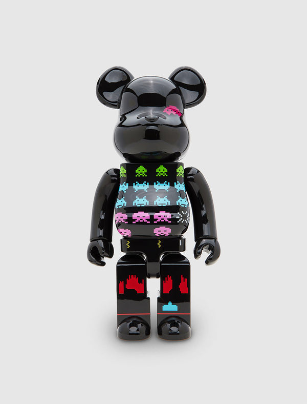 MEDICOM: BEARBRICK 400% SPACE INVADERS [BLACK]