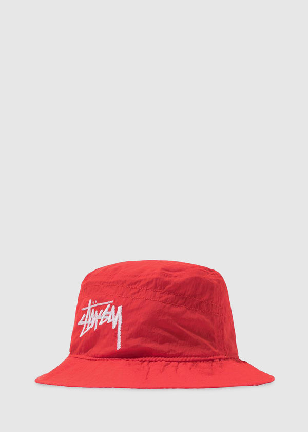 NIKE X STUSSY: BUCKET HAT [RED]