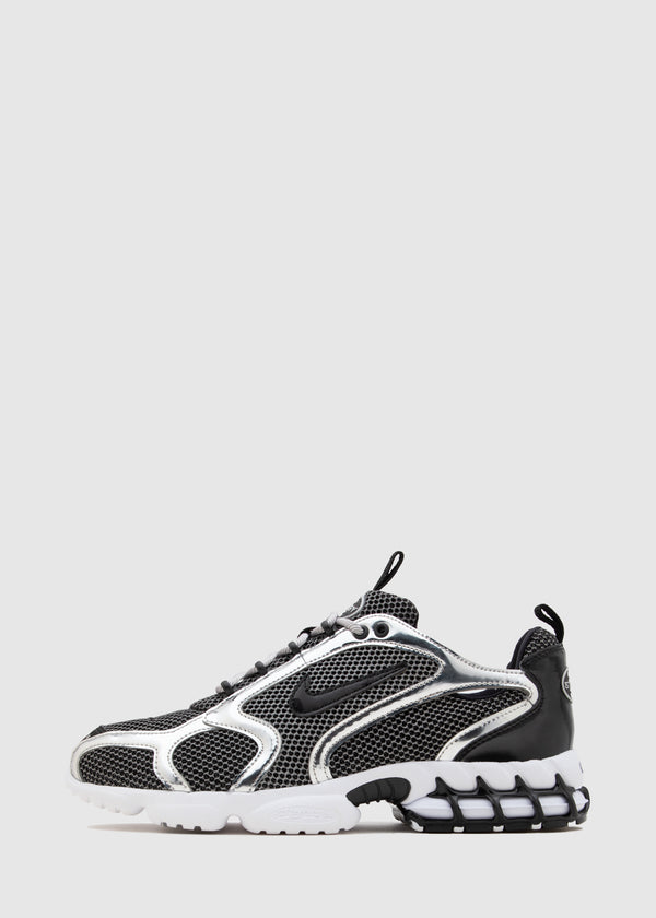 NIKE X STUSSY: AIR ZOOM SPIRIDON CAGED [BLACK]