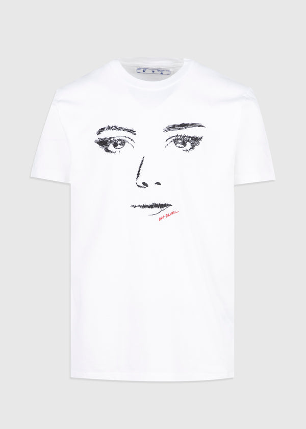 OFF-WHITE: WOMAN GAZE TEE [WHITE]
