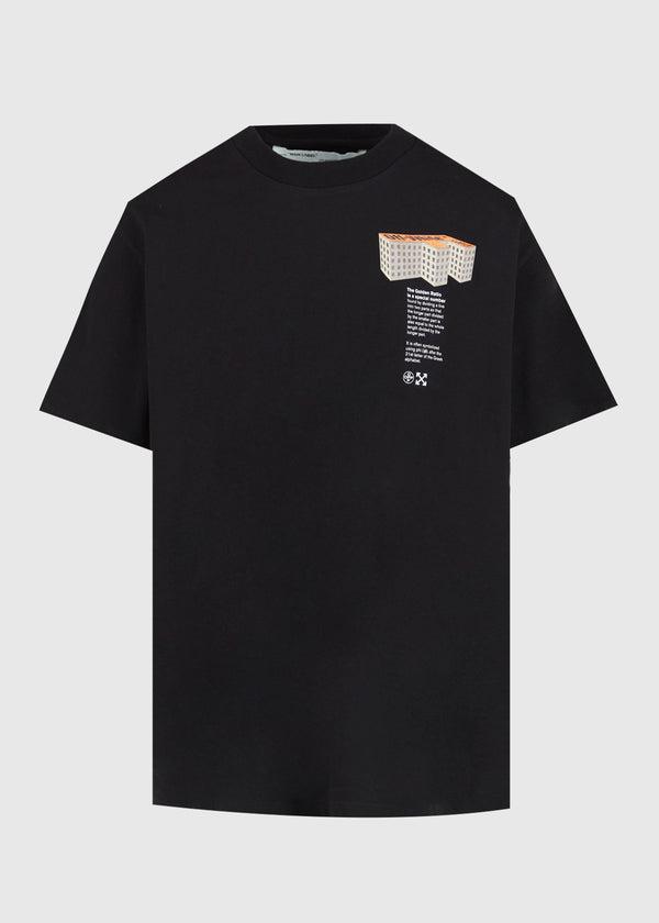 OFF-WHITE: BUILDING TEE [BLACK]