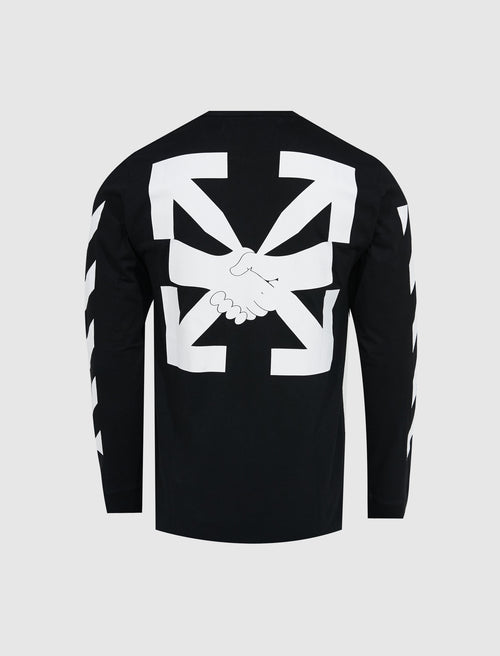 DIAGONAL LONG SLEEVE TEE