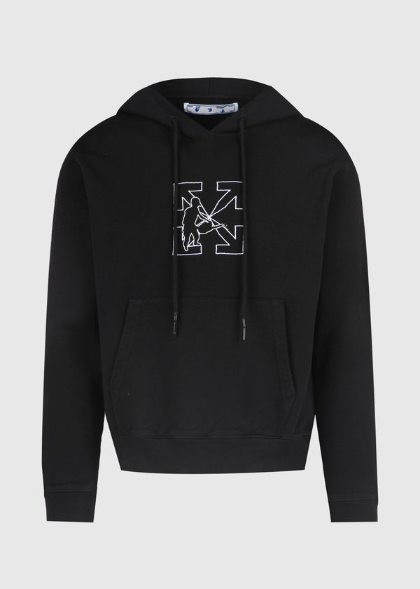 OFF-WHITE: WORKERS HOODIE [BLACK]