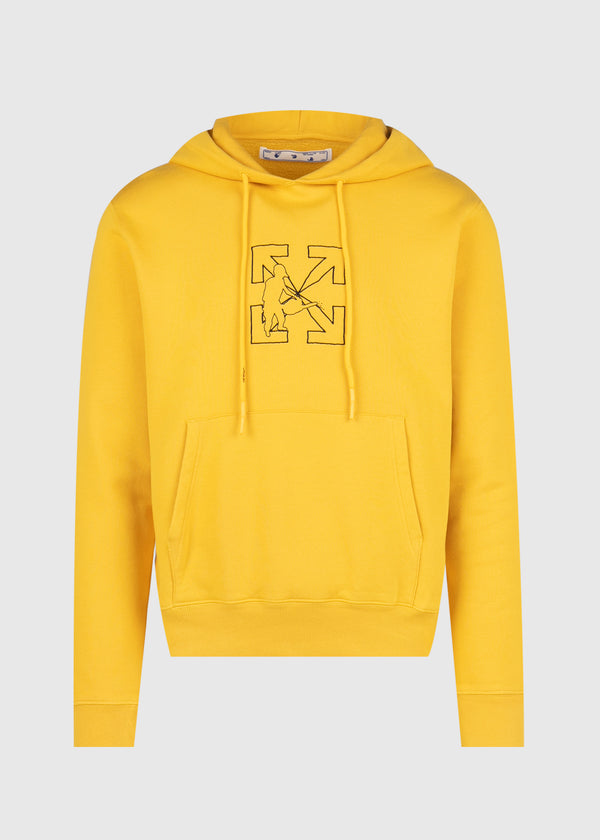 OFF-WHITE: WORKERS HOODIE [YELLOW]