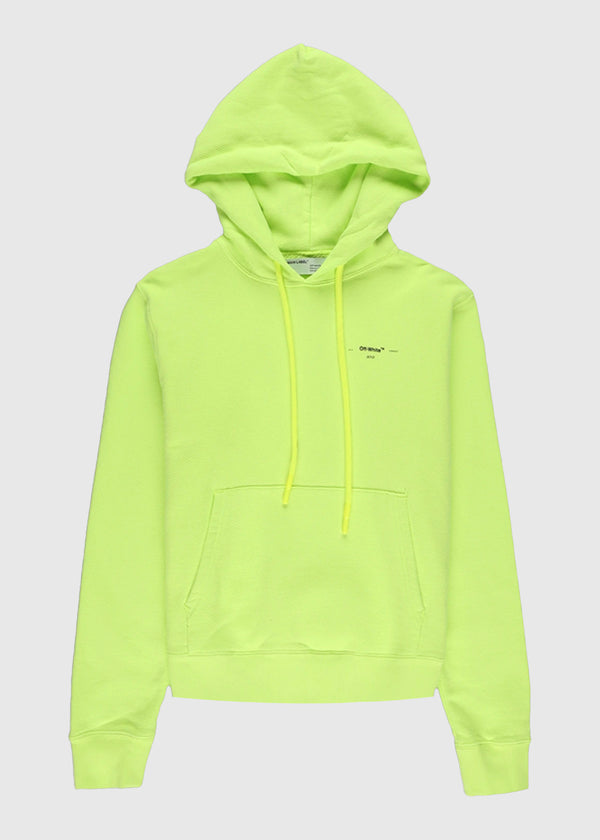 OFF-WHITE: ARROW LOGO HOODIE [YELLOW]
