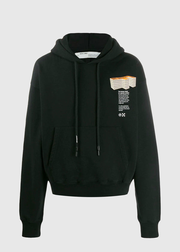 OFF-WHITE: BUILDING HOODIE [BLACK]