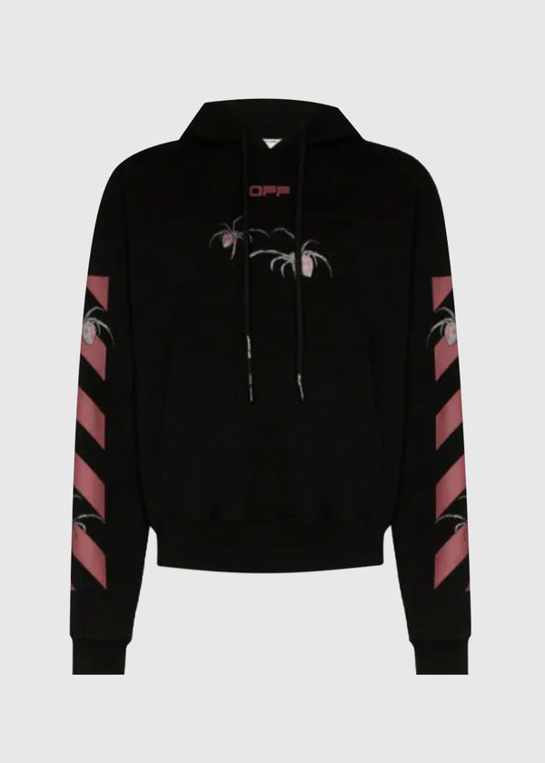 OFF WHITE ARACHNO ARROW HOODIE [BLACK]