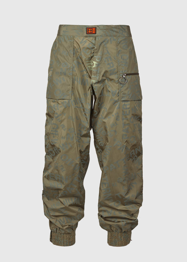 OFF-WHITE: THERMO TRACKPANT [OLIVE]