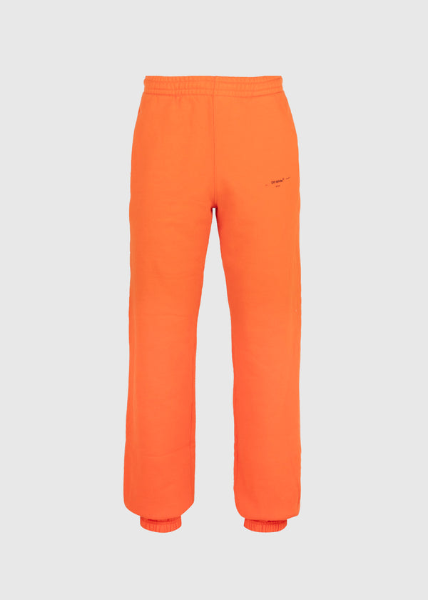 OFF-WHITE: LOGO SLIM SWEATPANT [ORANGE]