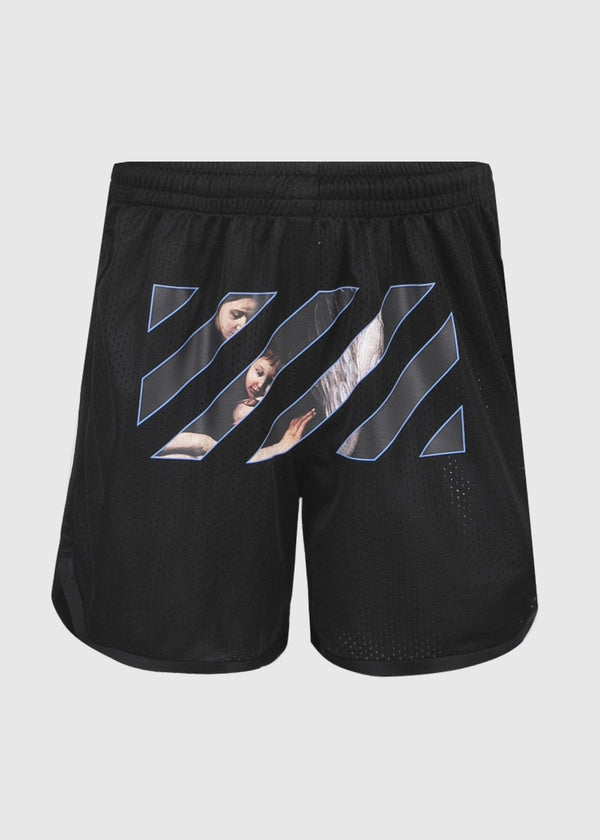 OFF-WHITE: CARAVAG SHORTS [BLACK]