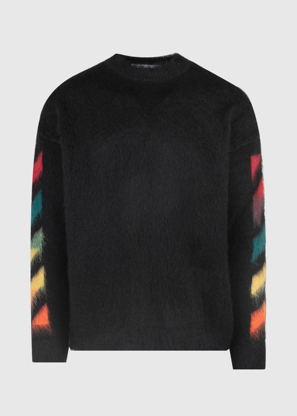 OFF-WHITE: MOHAIR CREWNECK [BLACK]