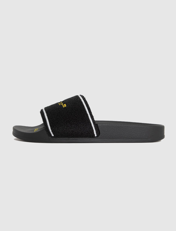 OFF-WHITE: TERRY SLIDE [BLACK]