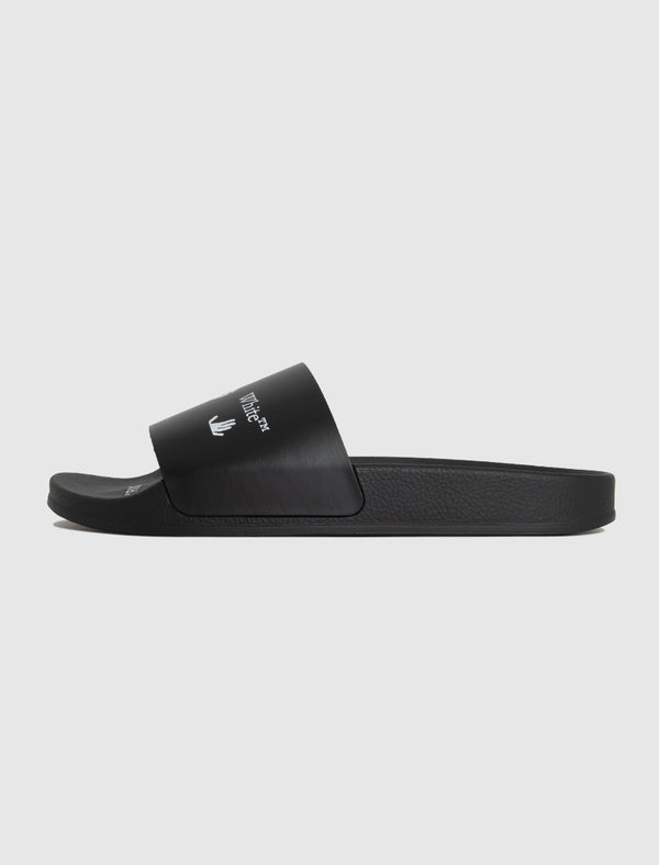 OFF-WHITE: LOGO SLIDE [BLACK]