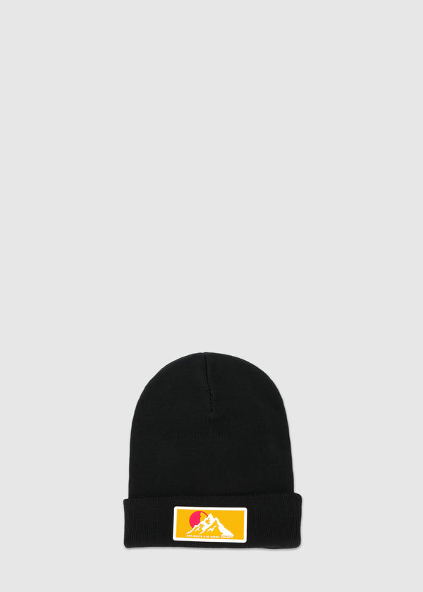 OFF-WHITE: PATCH BEANIE [BLACK]