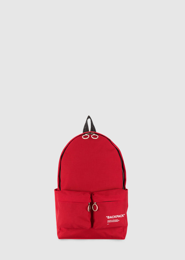 OFF-WHITE: QUOTE BACKPACK [RED]