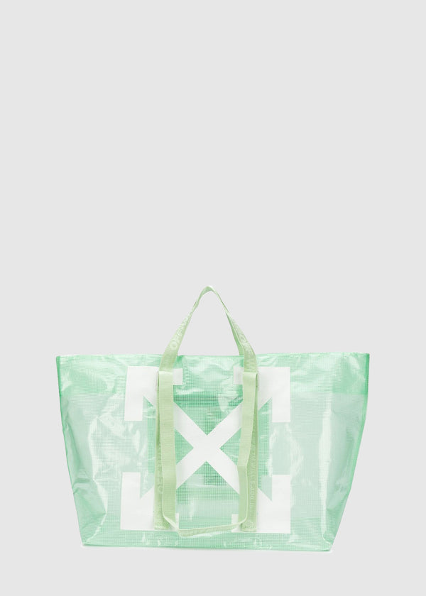 OFF-WHITE: PVC COMMERCIAL TOTE [GREEN]