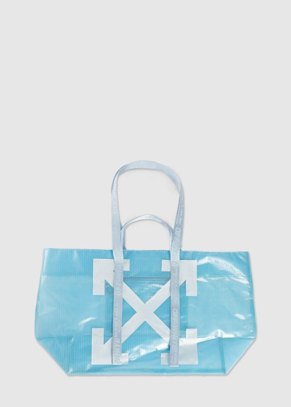 OFF-WHITE: PVC COMMERCIAL TOTE [BLUE]