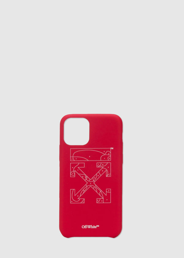 OFF-WHITE: IPHONE 11 PRO PUZZLE CASE [RED]
