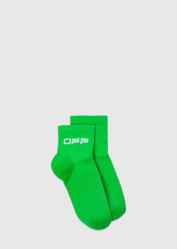 OFF-WHITE: SHORT SOCKS [GREEN]