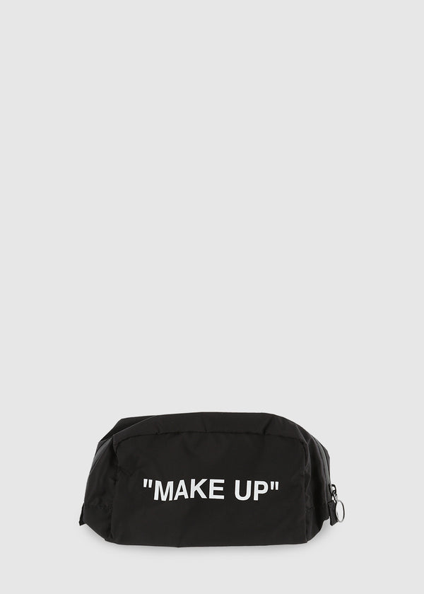 OFF-WHITE: MAKEUP BAG [BLACK]