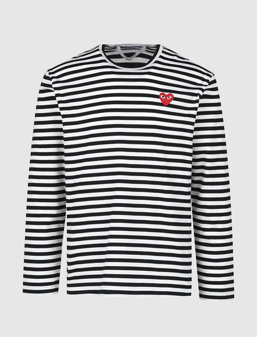PLAY STRIPED LONG SLEEVE TEE