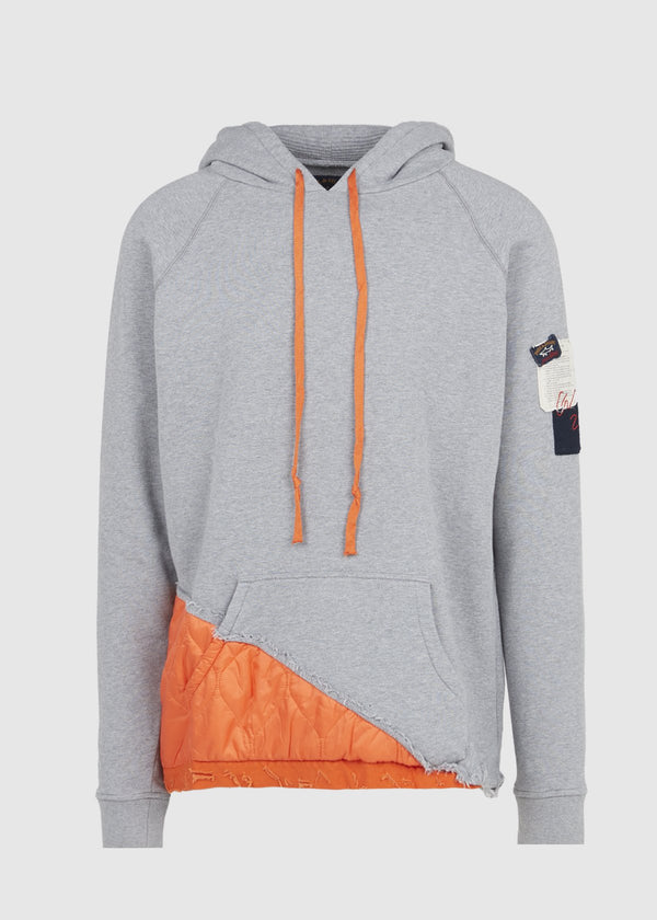 PAUL & SHARK X GREG LAUREN: HOODIE [GREY]