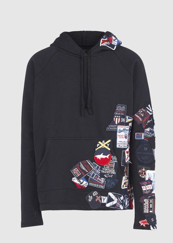 PAUL & SHARK X GREG LAUREN: HOODIE [BLACK]