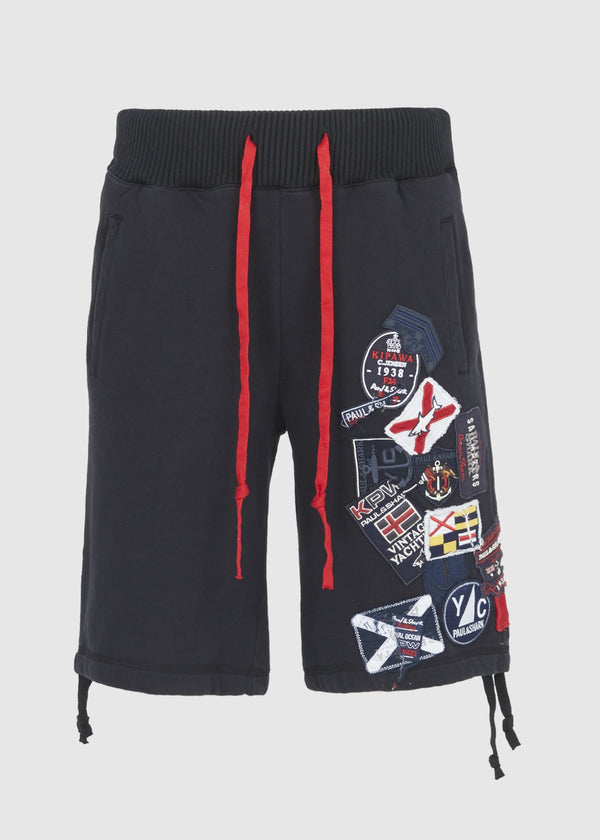 PAUL & SHARK X GREG LAUREN: SHARK PATCH SHORT [BLACK]