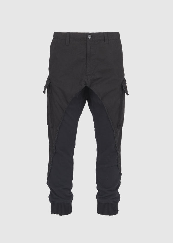 PAUL & SHARK X GREG LAUREN: 50/50 SHARK PANT [BLACK]