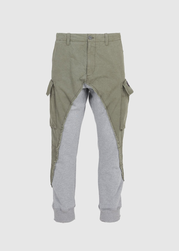PAUL & SHARK X GREG LAUREN: 50/50 SHARK PANT [GREEN]