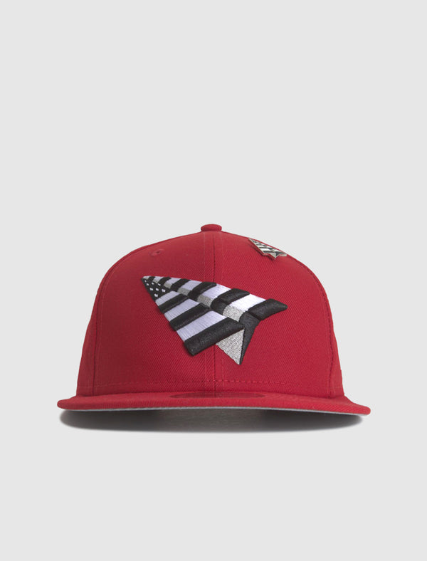 PAPER PLANES: CROWN SNAPBACK [RED]