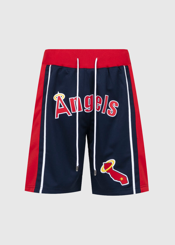 JUST DON: LA ANGELS SHORTS [NAVY/RED]