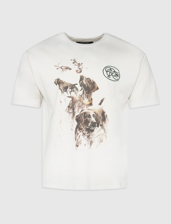REESE COOPER: HUNTING DOG TEE [WHITE]