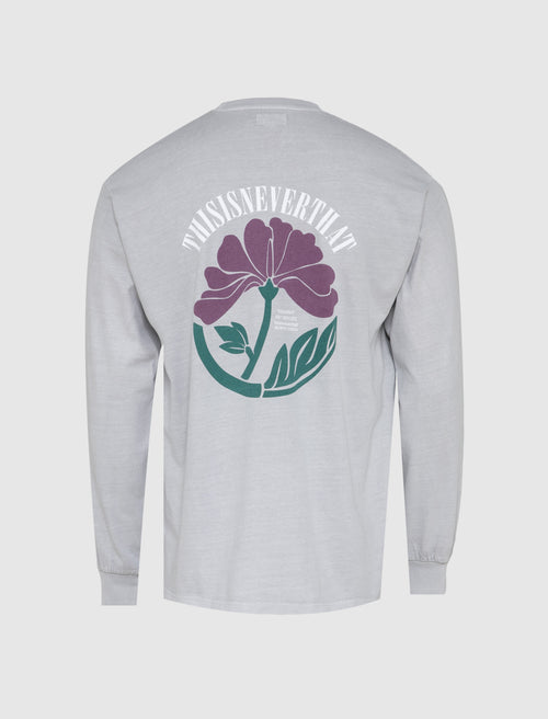 OVERDYED FLOWER LONG SLEEVE TEE