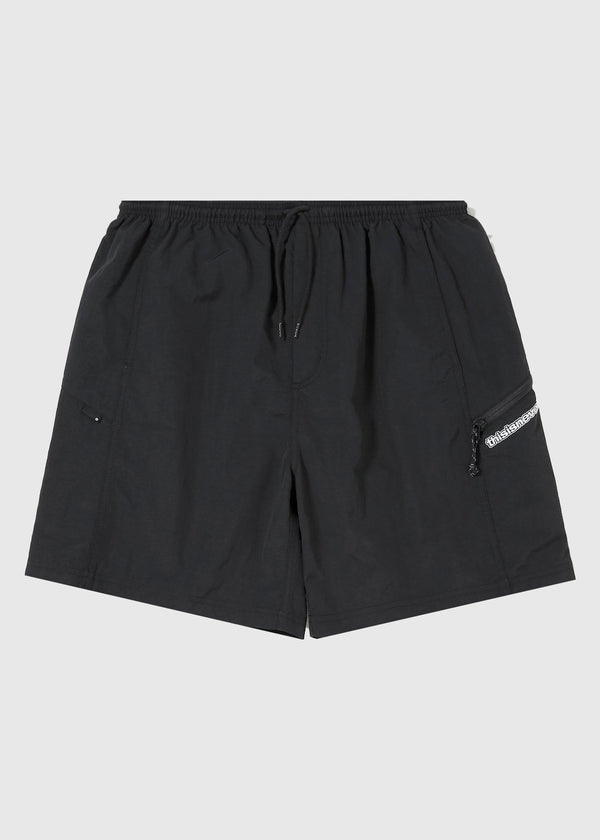 THISISNEVERTHAT: ZIP JOGGING SHORT [BLACK]