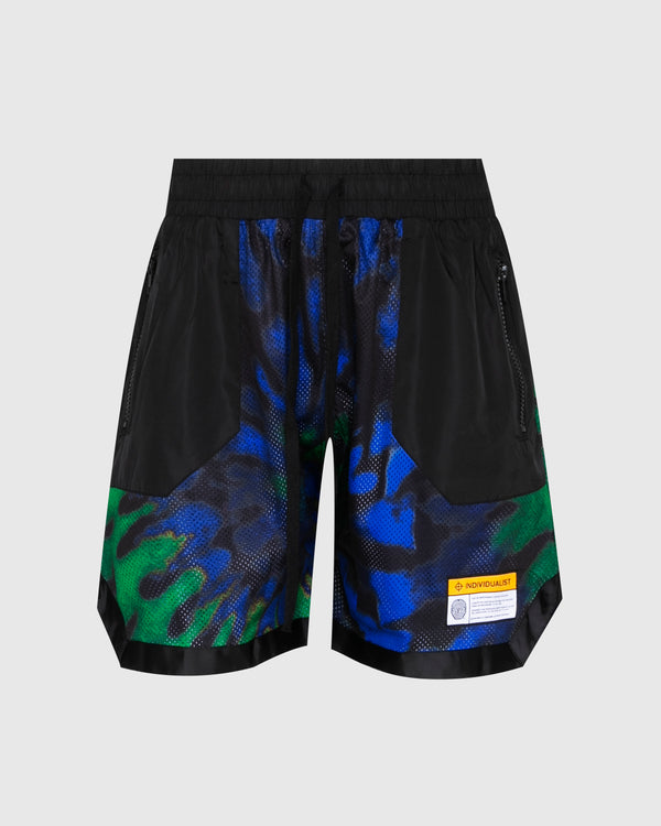 INDVLST: TIEDYE MESH SHORTS [MULTI]