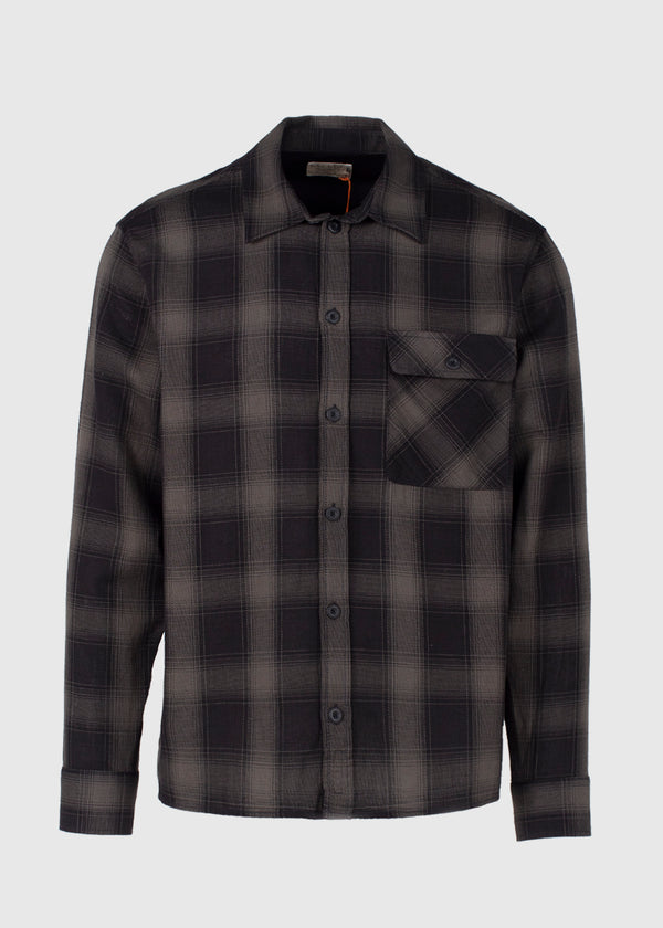 NUDIE JEANS CO.: STEN SHADOW SHIRT [BLACK]