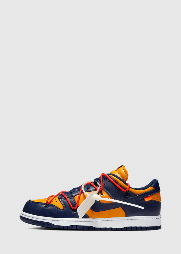 NIKE X OFF-WHITE: DUNK LOW [NAVY]