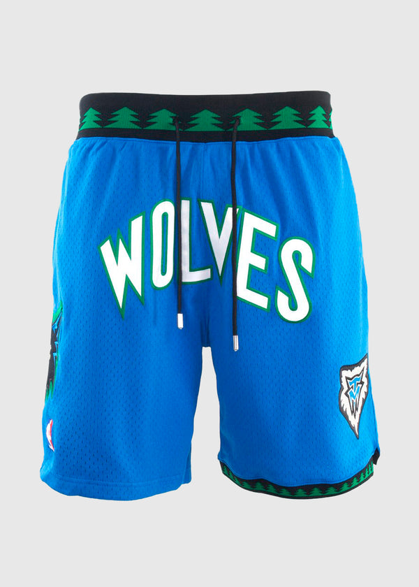 MITCHELL & NESS: WOLVES JUSTDON SHORT [BLUE]