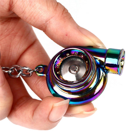 ELECTRONIC SPINNING TURBO KEYCHAIN