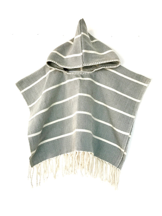 Grey Grecia Pull Over Poncho