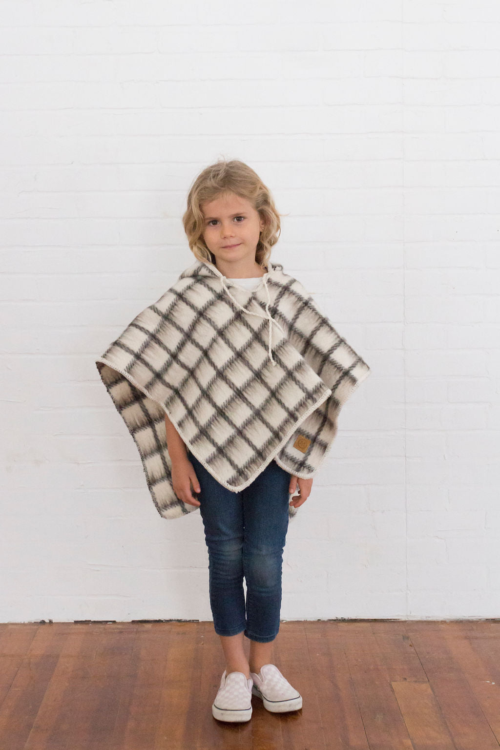 Cuadros Pullover Poncho