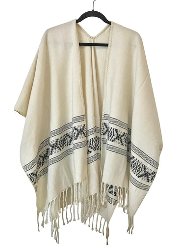 Equis Open Front Poncho